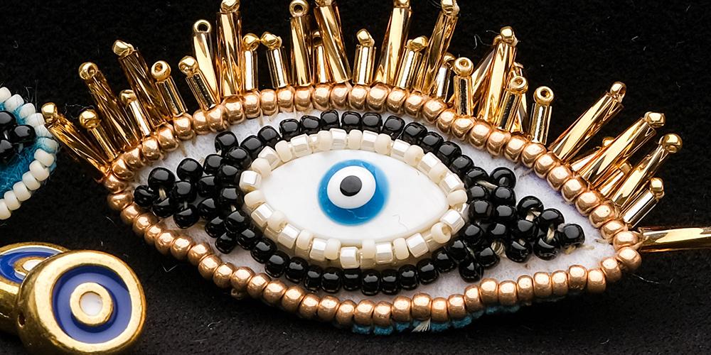 Broche broderie de perles